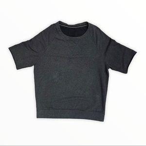 Lululemon Rolled Raw Edge Short Sleeve Sweatshirt